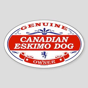 CANADIAN ESKIMO DOG Oval Sticker