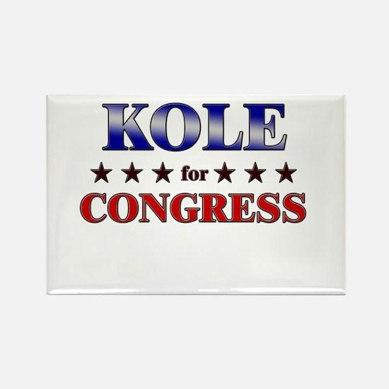 KOLE for congress Rectangle Magnet
