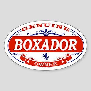 BOXADOR Oval Sticker