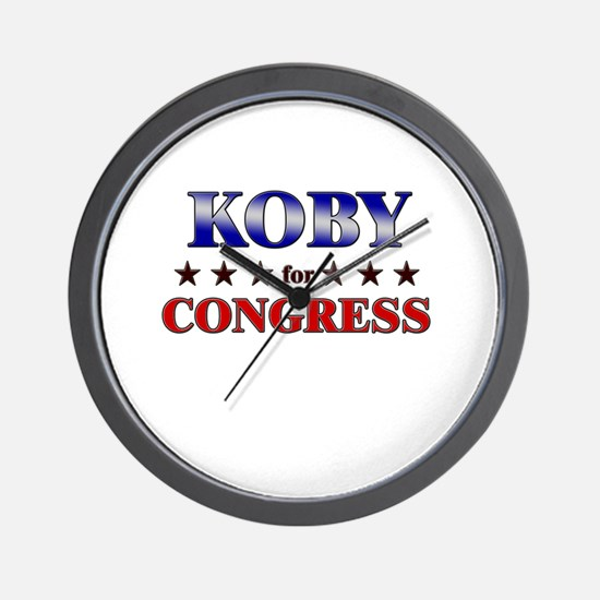 KOBY for congress Wall Clock