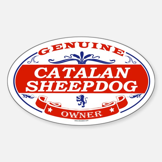 CATALAN SHEEPDOG Oval Decal