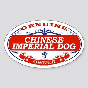 CHINESE IMPERIAL DOG Oval Sticker