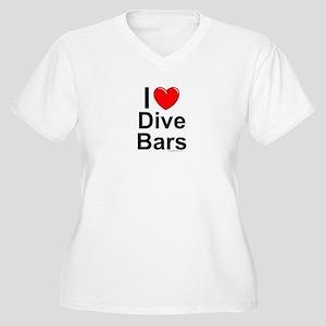 Dive Bars Women's Plus Size V-Neck T-Shirt