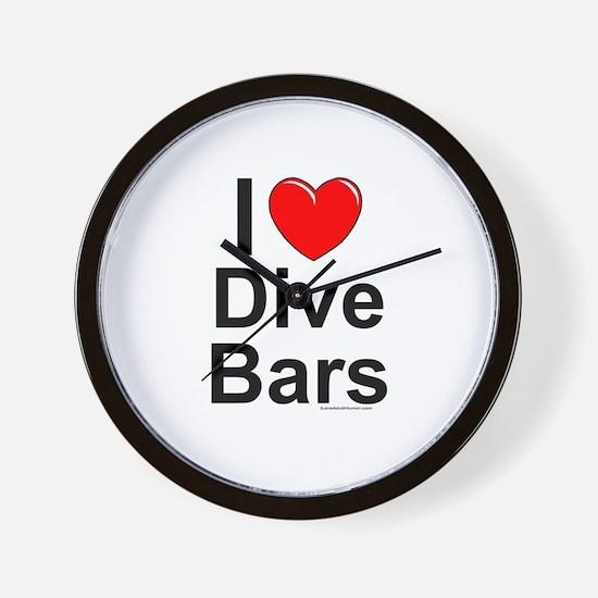 Dive Bars Wall Clock