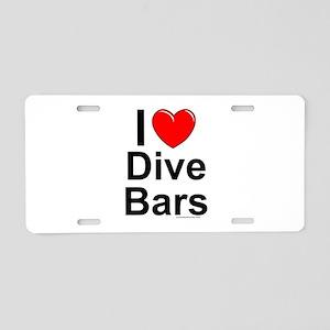 Dive Bars Aluminum License Plate