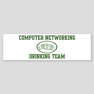 Computer Networking Drinking Bumper Sticker