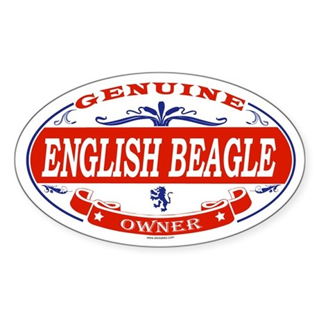 ENGLISH BEAGLE Oval Sticker