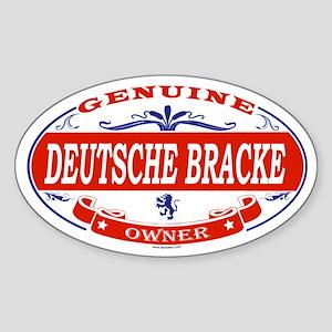 DEUTSCHE BRACKE Oval Sticker