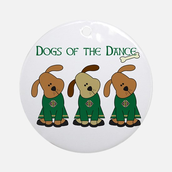 Dogs Of The Dance Ornament (Round)