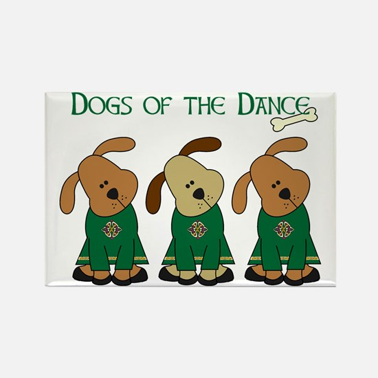 Dogs Of The Dance Rectangle Magnet