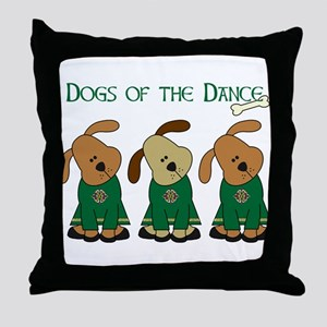 Dogs Of The Dance Throw Pillow