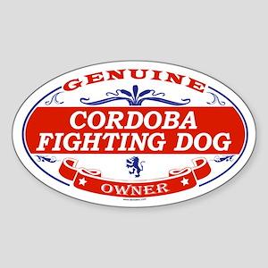 CORDOBA FIGHTING DOG Oval Sticker