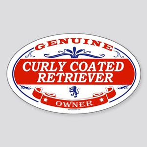 CURLY COATED RETRIEVER Oval Sticker