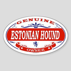 ESTONIAN HOUND Oval Sticker