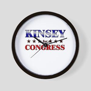 KINSEY for congress Wall Clock