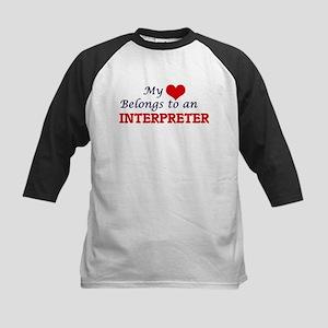 My Heart Belongs to an Interpreter Baseball Jersey
