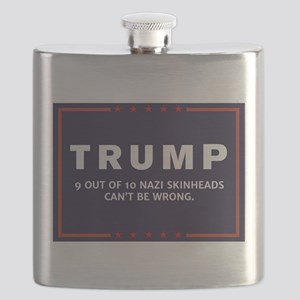 Anti-Trump Nazi Skinheads Dark Logo Flask