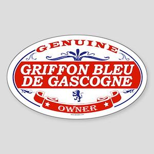 GRIFFON BLEU DE GASCOGNE Oval Sticker