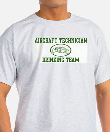 Aircraft Technician Drinking  T-Shirt