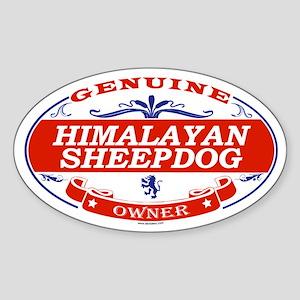 HIMALAYAN SHEEPDOG Oval Sticker