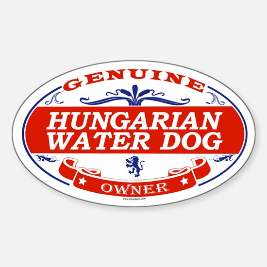 HUNGARIAN WATER DOG Oval Decal