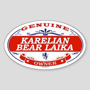 KARELIAN BEAR LAIKA Oval Sticker
