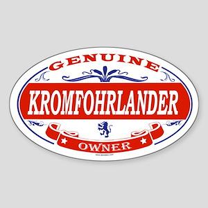 KROMFOHRLANDER Oval Sticker