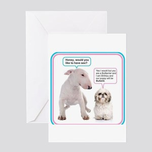 Dog humor Greeting Cards