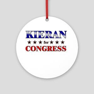KIERAN for congress Ornament (Round)