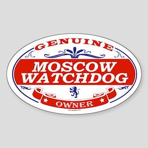 MOSCOW WATCHDOG Oval Sticker