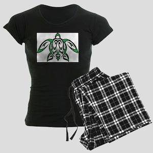 hawaiian honu turtle print Women's Dark Pajamas