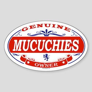 MUCUCHIES Oval Sticker