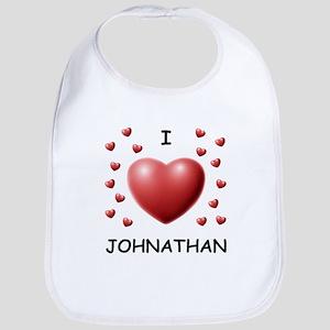 I Love Johnathan - Bib