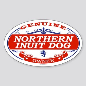 NORTHERN INUIT DOG Oval Sticker