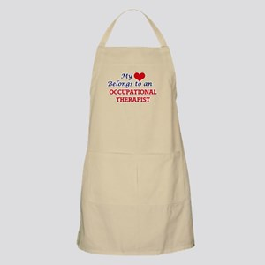 My Heart Belongs to an Occupational Therapis Apron