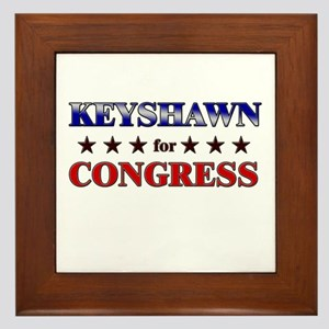 KEYSHAWN for congress Framed Tile