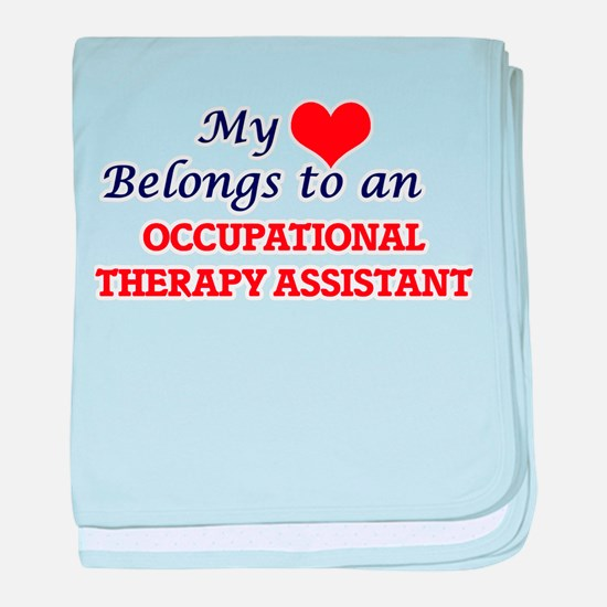 My Heart Belongs to an Occupational T baby blanket