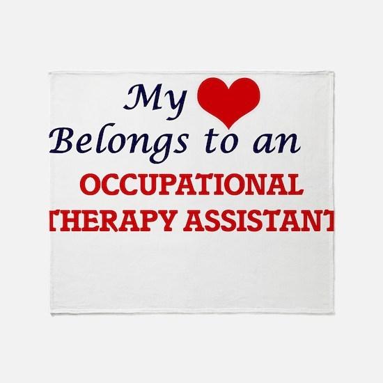 My Heart Belongs to an Occupational Throw Blanket