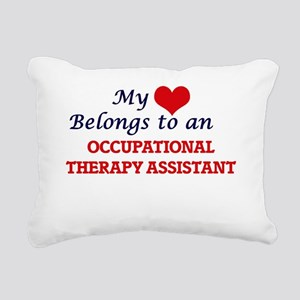 My Heart Belongs to an O Rectangular Canvas Pillow