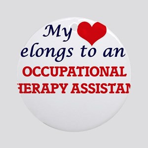 My Heart Belongs to an Occupational Round Ornament