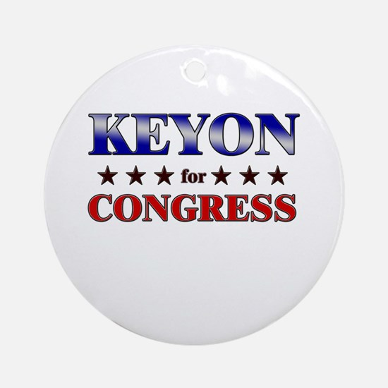 KEYON for congress Ornament (Round)