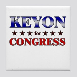 KEYON for congress Tile Coaster