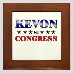 KEVON for congress Framed Tile