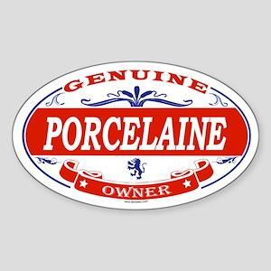 PORCELAINE Oval Sticker
