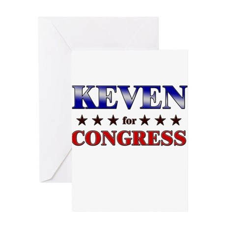 KEVEN for congress Greeting Card