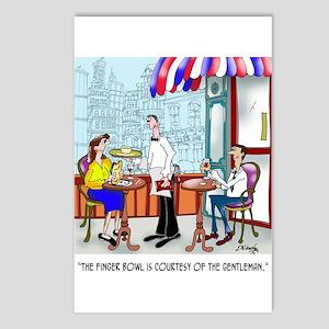 Restaurant Cartoon 9370 Postcards (Package of 8)