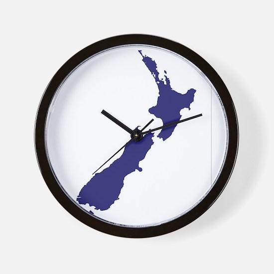 New Zealand Silhouette Wall Clock
