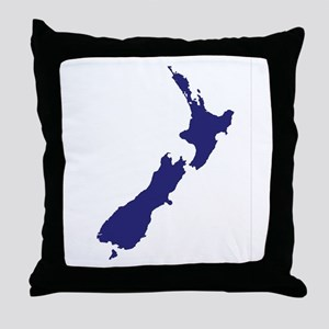 New Zealand Silhouette Throw Pillow