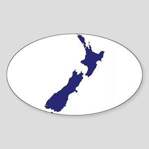 New Zealand Silhouette Sticker
