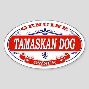 TAMASKAN DOG Oval Sticker